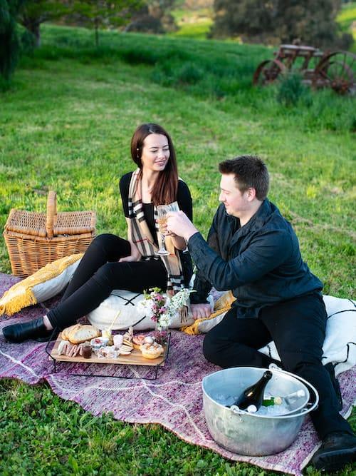 Luxury proposal picnic