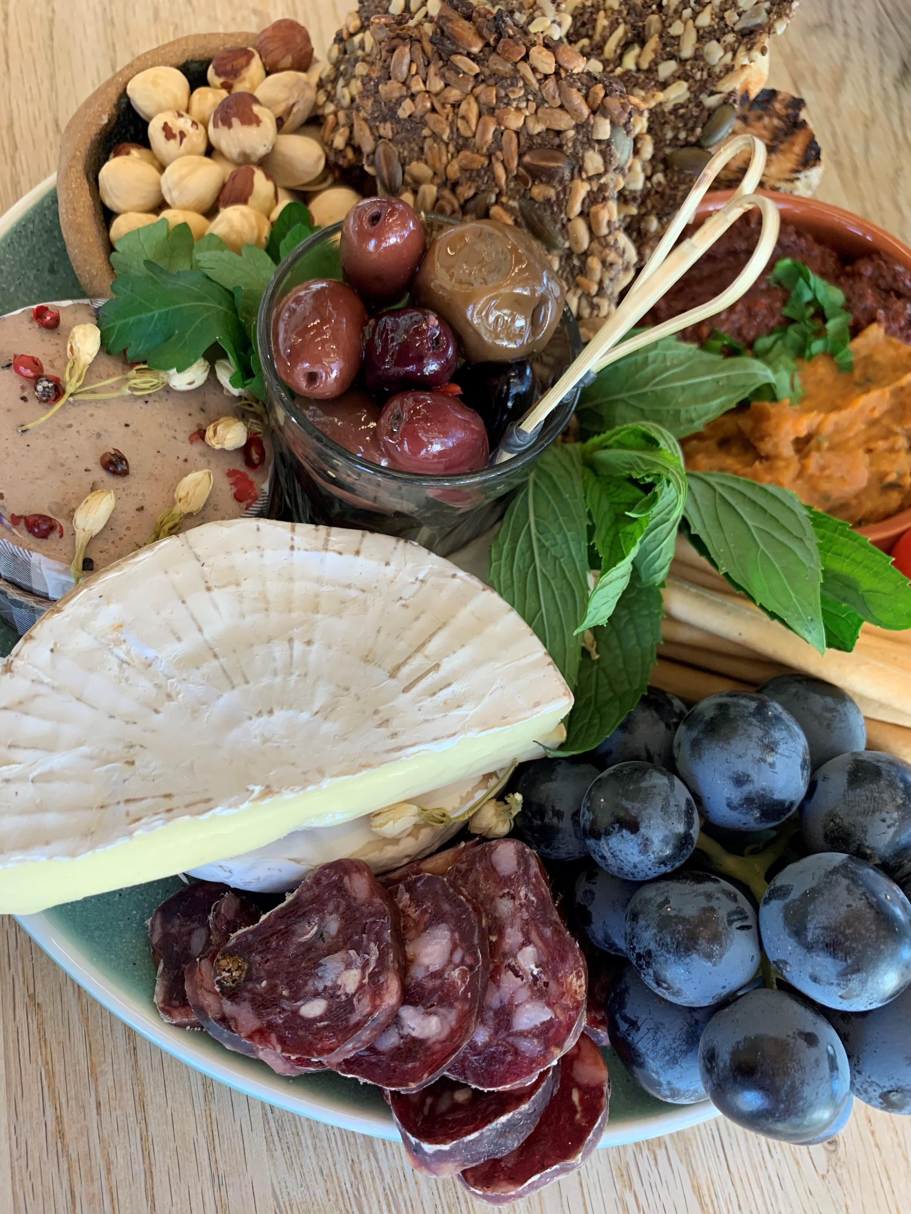 platter of local produce