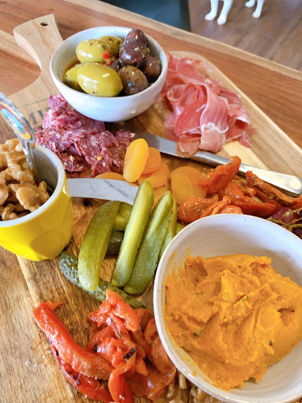 platter of local food