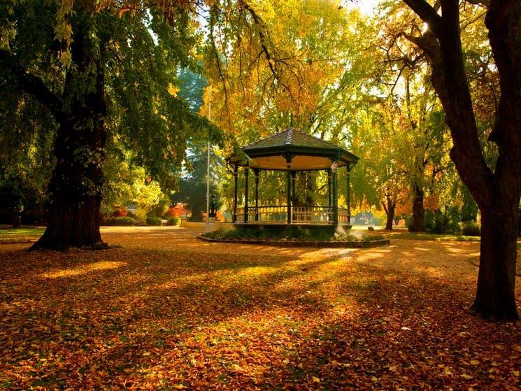 rotunda in park in Autumn